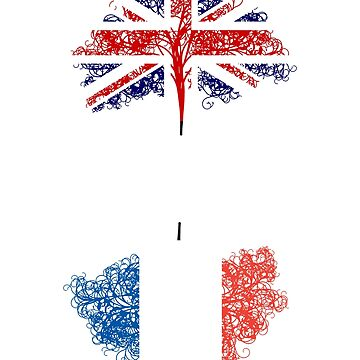 English born, French roots ancestry design by jhussar