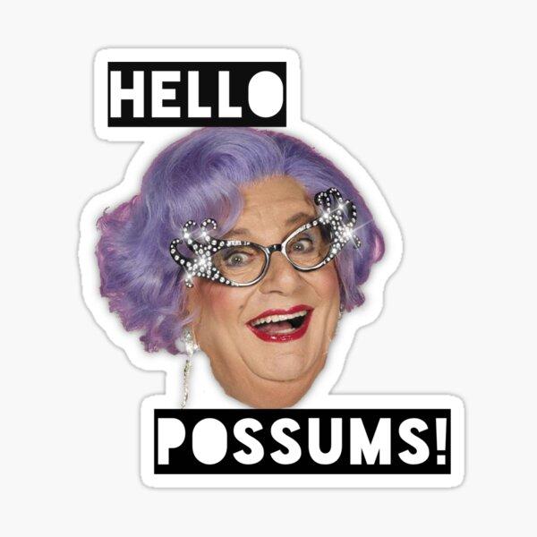 Dame Edna - Hello Possums! Sticker