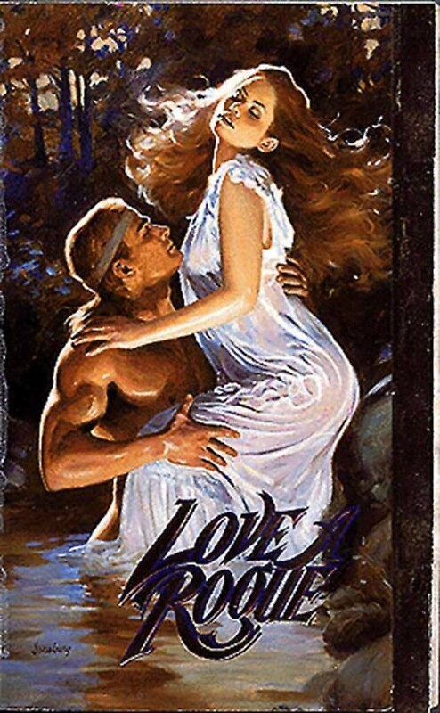 Love A Rogue Romance Novel Cover With Fabio Art Print
