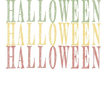 Halloween Vintage retro design by jhussar