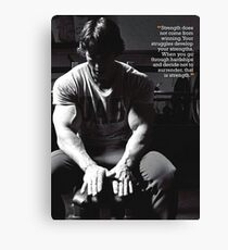 Bodybuilding Inspirational Fitness Quote Canvas Print