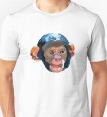 cheeky blue monkey Unisex T-Shirt
