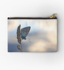 Common blue butterfly Studio Pouch