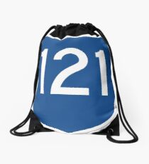 Australian State Route 121 | Australia Highway Shield Sign Drawstring Bag