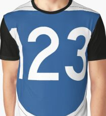 Australian State Route 123 | Australia Highway Shield Sign Graphic T-Shirt