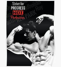 Bodybuilding inspirierende Fitness Zitat Poster