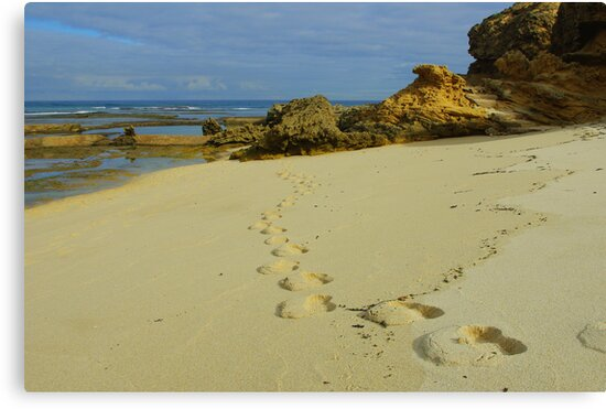 Foot prints by Kerry  Hill