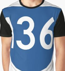 Australian State Route 136 | Australia Highway Shield Sign Graphic T-Shirt