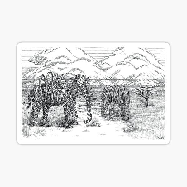 Disappearing Giants - Elephants Sticker