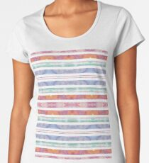 Watercolor Abstract Sunset Pattern Women's Premium T-Shirt