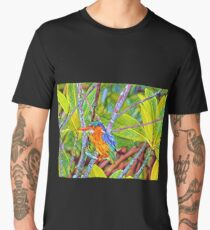 Kingfisher art prints - various designs - style 3 Men's Premium T-Shirt