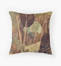 Walk in a forest Throw Pillow