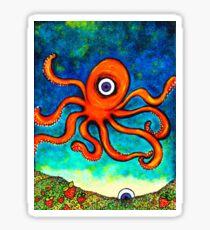 An Octopus's Garden Of Hearts Sticker