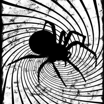 Halloween Spider, Everyday Boo. White for Black Psychedelic T-Shirt by kevinobrien