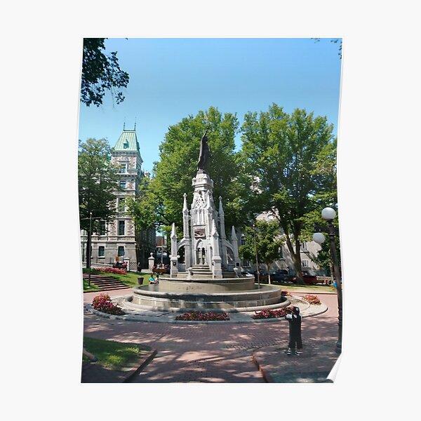 Quebec City, #QuebecCity, #Quebec, #City, #Canada, #buildings, #streets, #places, #views, #nature, #people, #tourists, #pedestrians, #architecture, #flowers, #monuments Poster