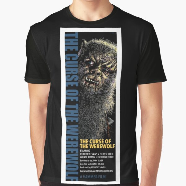 CLASSIC HORROR MOVIE POSTERS REIMAGINED - CURSE OF THE WEREWOLF - 1961 Graphic T-Shirt