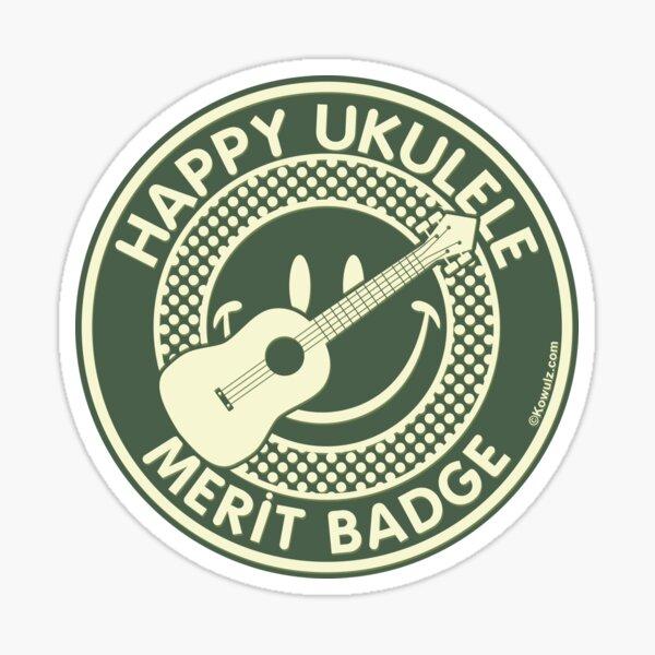 Happy Ukulele Merit Badge Sticker
