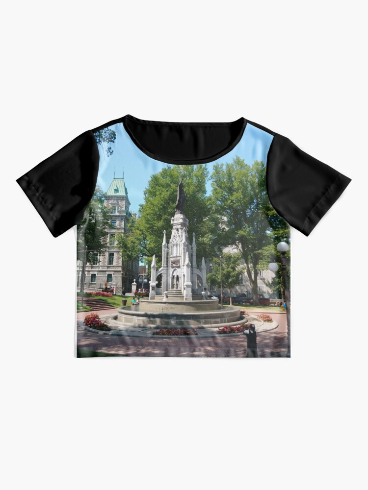 Alternate view of Quebec City, #QuebecCity, #Quebec, #City, #Canada, #buildings, #streets, #places, #views, #nature, #people, #tourists, #pedestrians, #architecture, #flowers, #monuments Chiffon Top
