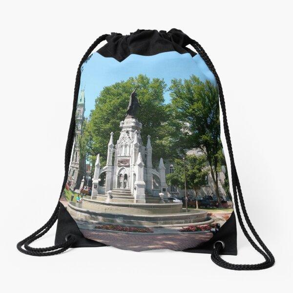 Quebec City, #QuebecCity, #Quebec, #City, #Canada, #buildings, #streets, #places, #views, #nature, #people, #tourists, #pedestrians, #architecture, #flowers, #monuments Drawstring Bag