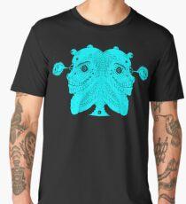 Two Face Blue Face Men's Premium T-Shirt