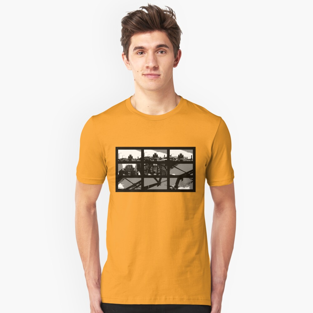 Crossing The Bridge into The Abstract Unisex T-Shirt Front