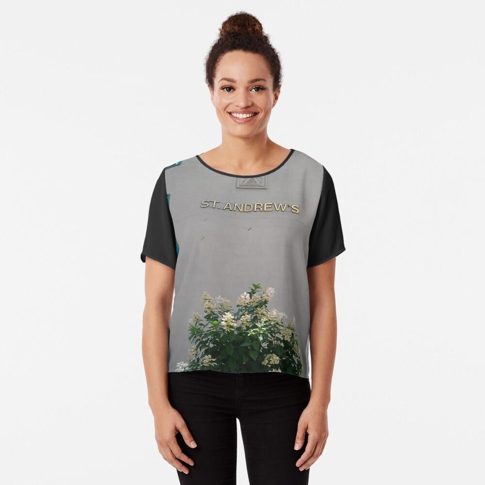 Quebec City, #QuebecCity, #Quebec, #City, #Canada, #buildings, #streets, #places, #views, #nature, #people, #tourists, #pedestrians, #architecture, #flowers, #monuments Chiffon Top