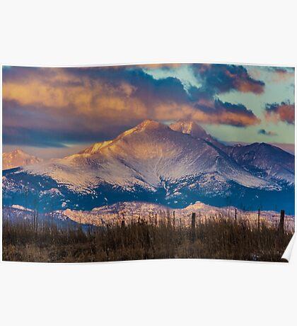 Mt Meeker and Longs Peak Sunrise Poster