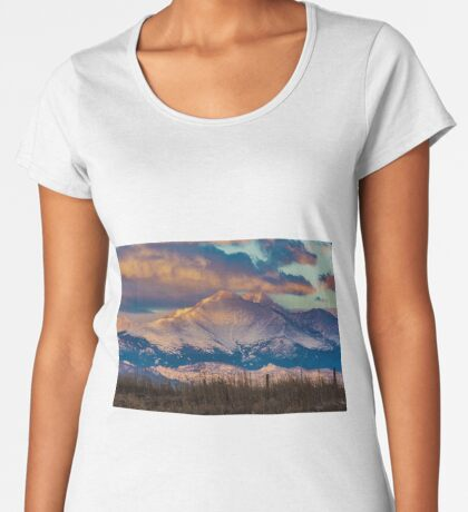 Mt Meeker and Longs Peak Sunrise Women's Premium T-Shirt