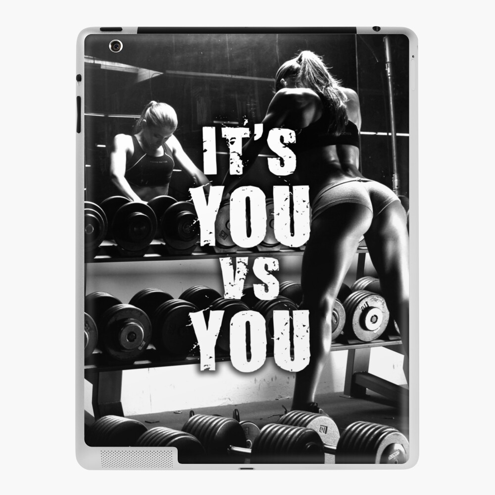 Its You Vs You Women S Fitness Inspirational Workout Quote Ipad Case Skin By Superfitstuff Redbubble