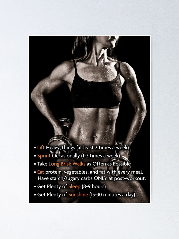 Women S Fitness Infographic How To Get In Shape Poster By Superfitstuff Redbubble Browse canva's collection of customizable templates and posters that inform and promote awareness on women's rights. redbubble