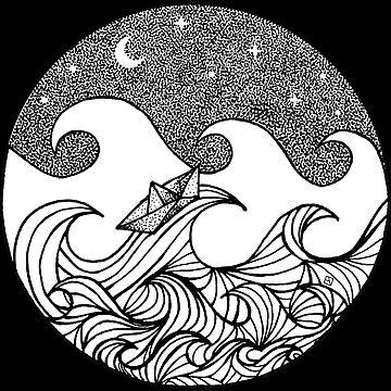 Sternenklare Nacht auf hoher See by lillylotus