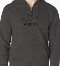 Aliens Zipped Hoodie