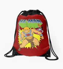 He-Man the most powerful man in the universe and Orko the magician with logo Drawstring Bag