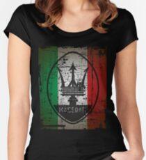Camiseta entallada de cuello redondo MASERATI