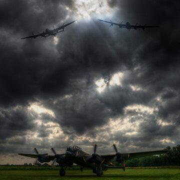 Three Lancasters by Nigdaw