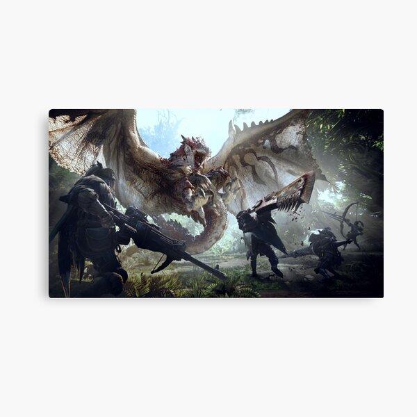 Monster Hunter World Rathalos Canvas Print