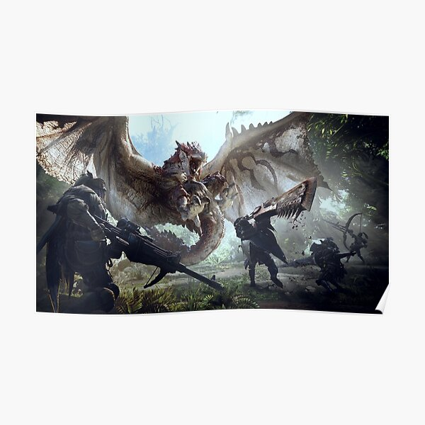 Monstre chasseur monde Rathalos Poster