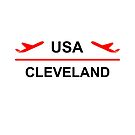 Cleveland USA Airport Plane Light-Color by TinyStarAmerica