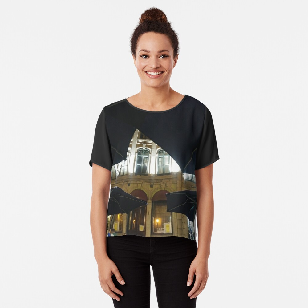 Montreal, #Montreal #City, #MontrealCity, #Canada, #buildings, #streets, #places, #views, #nature, #people, #tourists, #pedestrians, #architecture, #flowers, #monuments Chiffon Top
