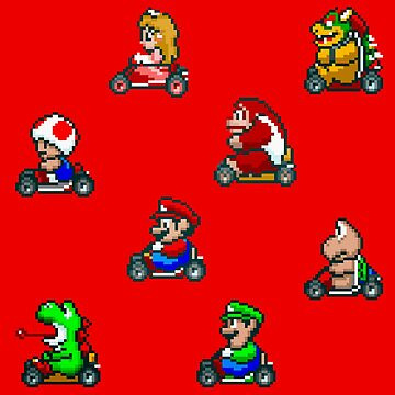 Super Mario Kart / Characters / Red by MisterPixel