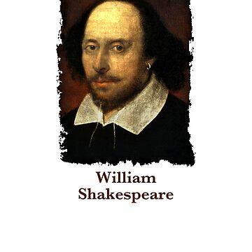 William Shakespeare poet playwright drama lover gift t shirt by Johannesart