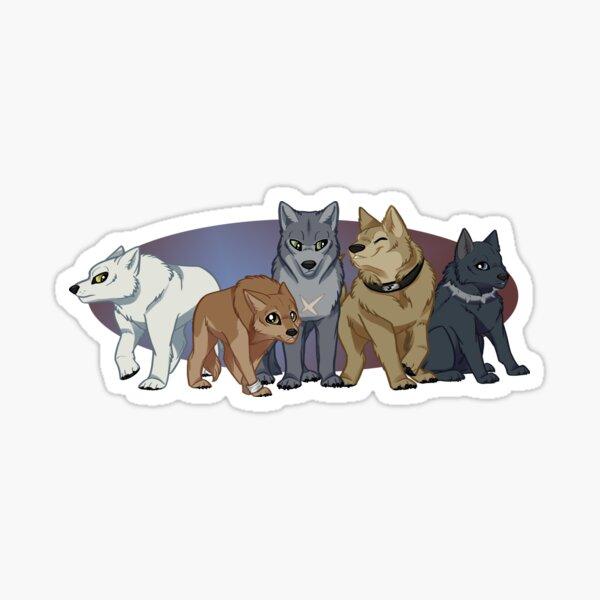 PACK LEADER Sticker Car Window Vinyl Decal Cute alpha dog lover wolf pet gift