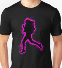 Silhouette fit pink and black silhouette Unisex T-Shirt