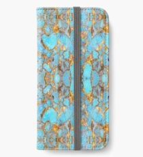 Turquoise and Gold iPhone Wallet/Case/Skin