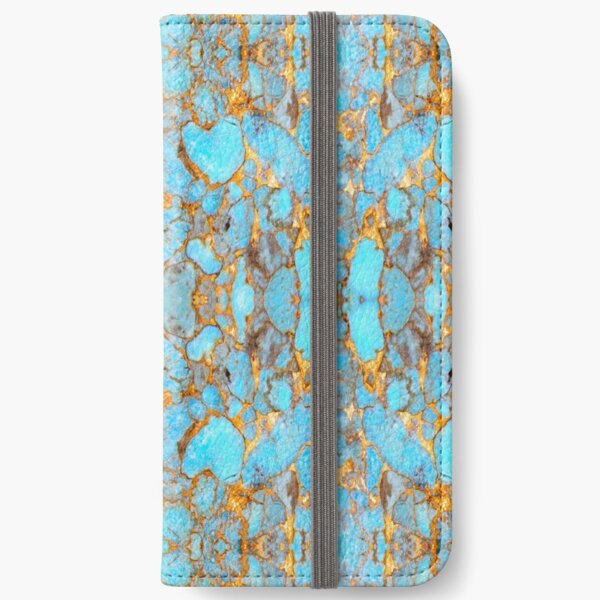 Turquoise and Gold iPhone Wallet