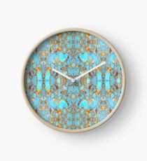 Turquoise and Gold Clock