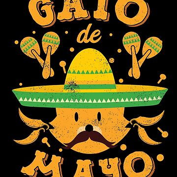 Cat Cinco de Mayo Cinco de Meow Kitten Sombrero by TheLariat