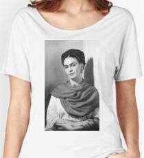 Frida Kahlo noir et blanc T-shirts coupe relax