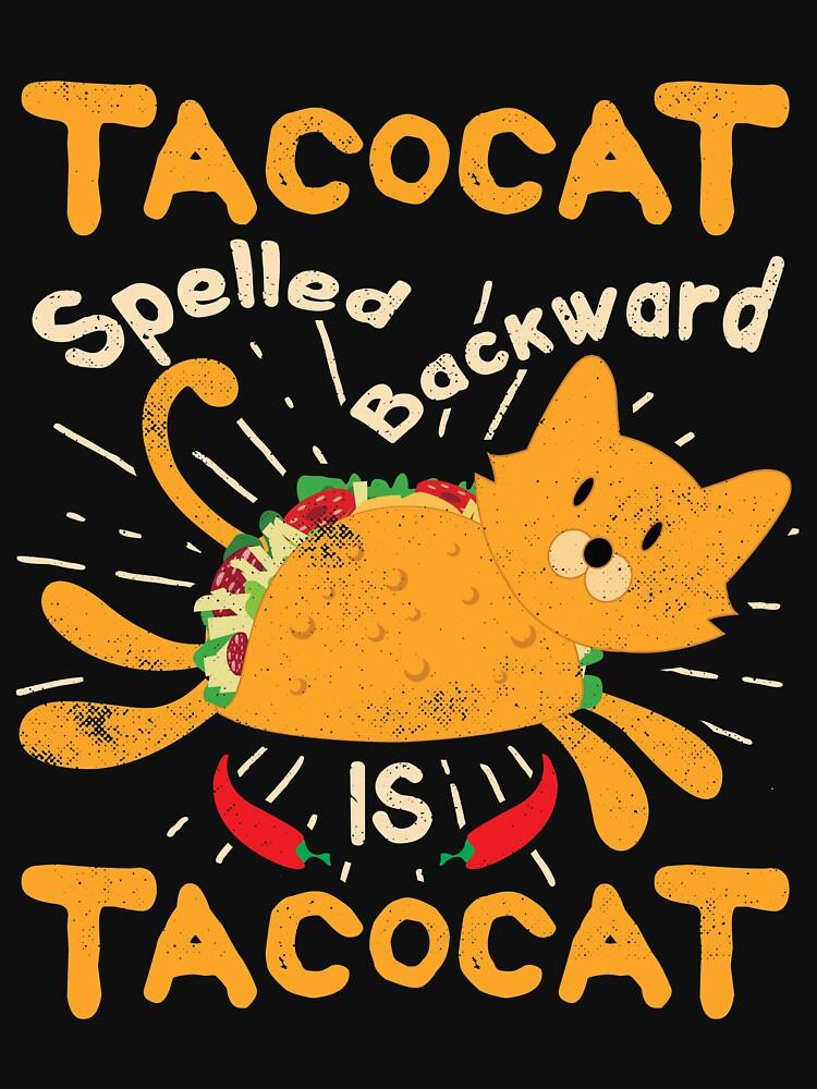 Tacocat Spelled Backwards Cinco de Mayo Cat Taco by TheLariat