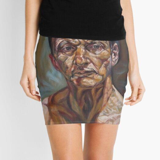 self-portrait after Lucian freud  Mini Skirt